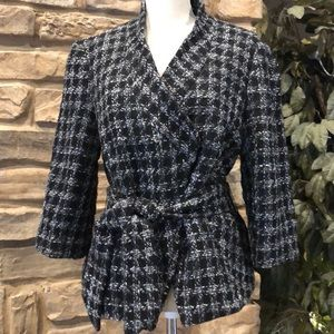 The Limited Tweed blazer houndstooth jacket size L